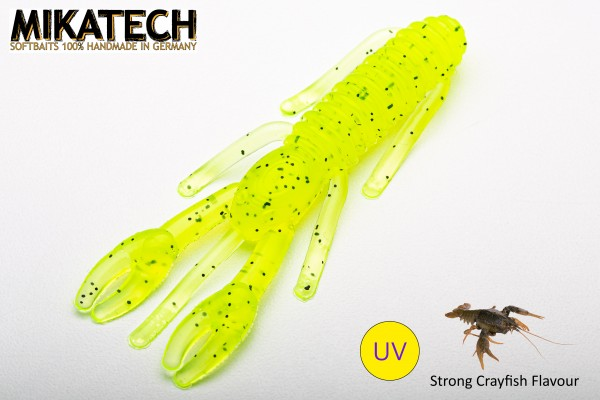 MIKATECH Real Craw 8 cm Ghost Chartreuse UV