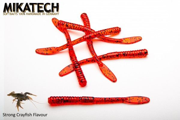 MIKATECH Real Worm 10 cm Bloody Red