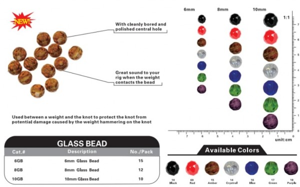 VIKE Glass Beads 8mm Crystal